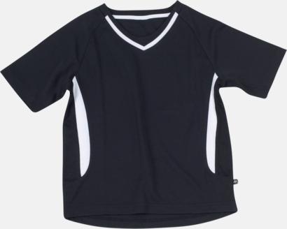 Svart / Vit Snabbtorkande funktionströjor med eget tryck eller bordyr