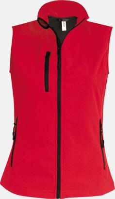 Röd (dam) Softshell Bodywarmers i herr- & dammodell med reklamtryck