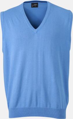 Glacier Blue V-ringad pullover med eget tryck