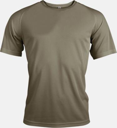 Olivgrön Sport t-shirts i många färger för herrar - med reklamtryck