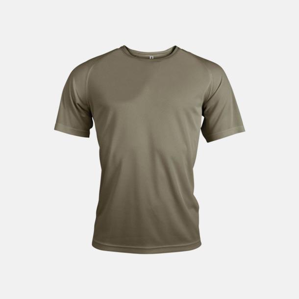 Olive Sport t-shirts i många färger för herrar - med reklamtryck