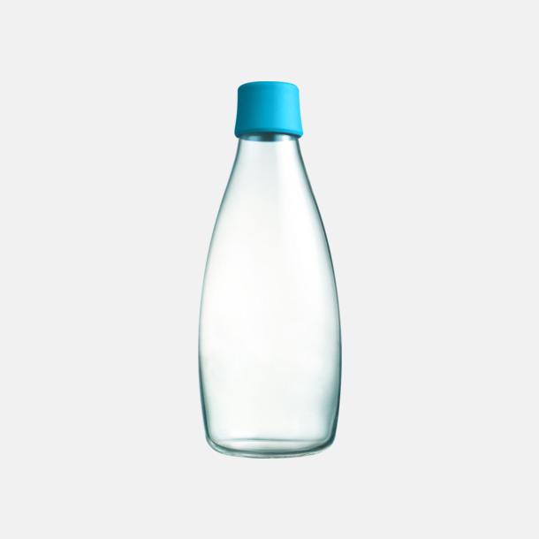 Ljusblå Större glasflaskor med reklamtryck