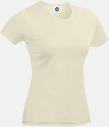 Natur T-shirt i ekologisk bomull
