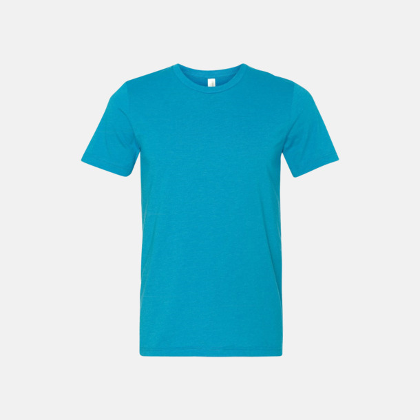 Neon Blue Unisex t-shirts i spräckliga färger med reklamtryck