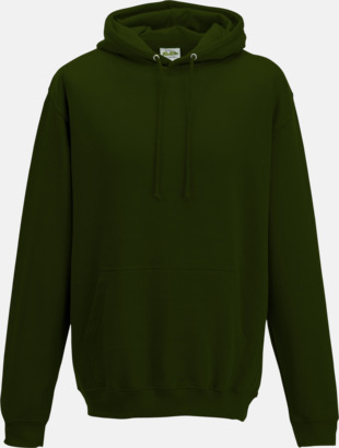 Forest Green Billiga collegetröjor i unisexmodell - med tryck