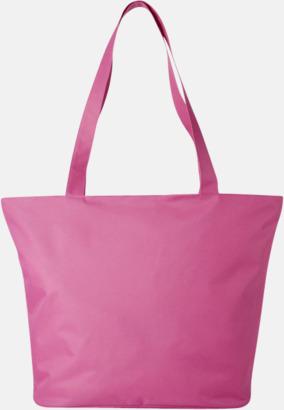 Rosa Polyester tygpåsar med reklamtryck