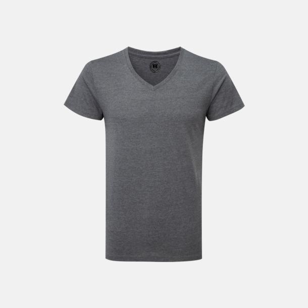 Grey Marl (v-neck herr) Färgstarka t-shirts i herr- och dammodell med reklamtryck