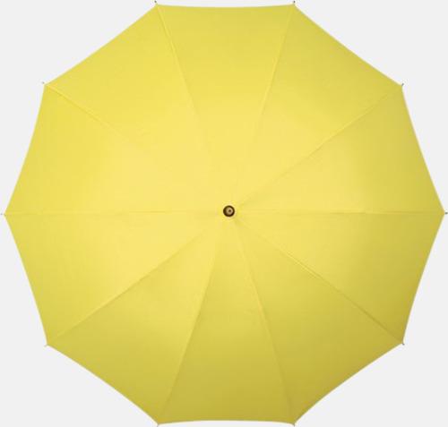 Gul (PMS 102C)  Stora golfparaplyer med eget tryck
