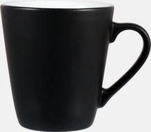 Kaffemuggar i stengodsmuggar med reklamtryck