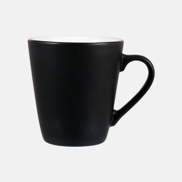 Svart / Vit Kaffemuggar i stengodsmuggar med reklamtryck