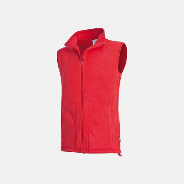 Scarlet Red (herr) Sportiga fleecevästar med reklamlogo