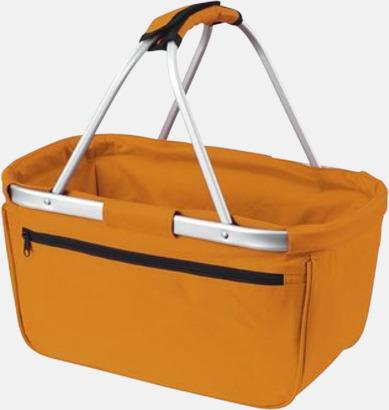 Orange  Shopping- & picknickkorg med reklamtryck