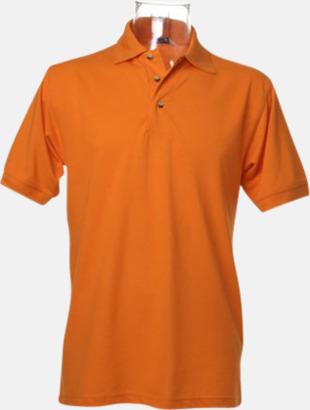 Orange Arbetspikétröjor i många färger - med reklambrodyr