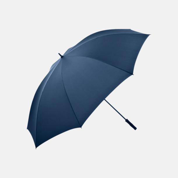 Marinblå Superstora paraplyer för 5 personer - med reklamtryck
