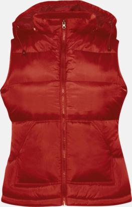 Röd (dam) Täckvästar i herr- & damodell med reklamtryck