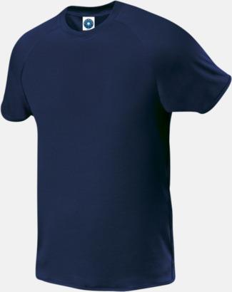 Marinblå (endast herr) Funktions t-shirts i herr- & dammodell med reklamtryck