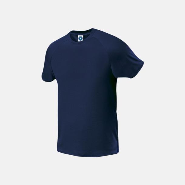 Marinblå (herr) Funktions t-shirts i herr- & dammodell med reklamtryck