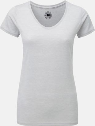 Silver Marl (v-neck dam) Färgstarka t-shirts i herr- och dammodell med reklamtryck