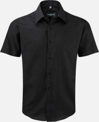 Svart (kortärmad) Strykfri businessskjorta