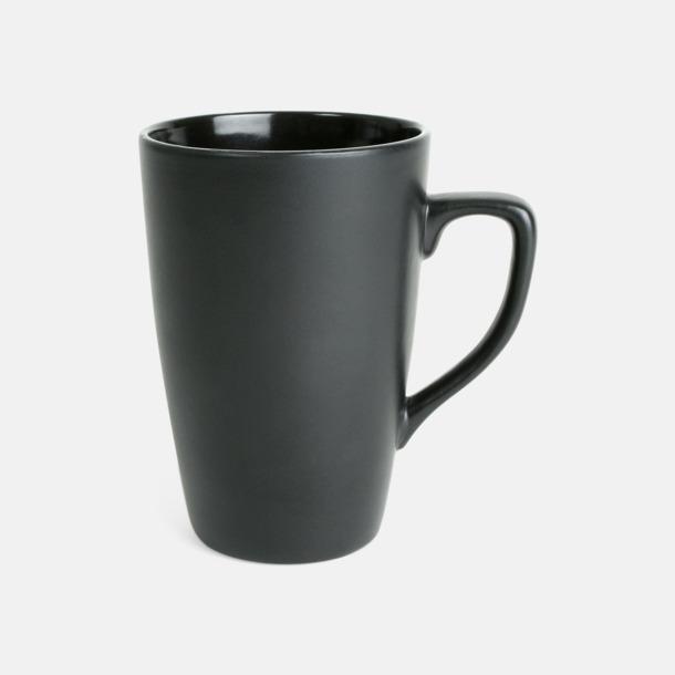 Svart Klassiska kaffemuggar med eget tryck