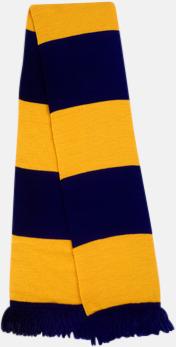 Marinblå/guld Halsdukar i olika lagfärger med egen brodyr