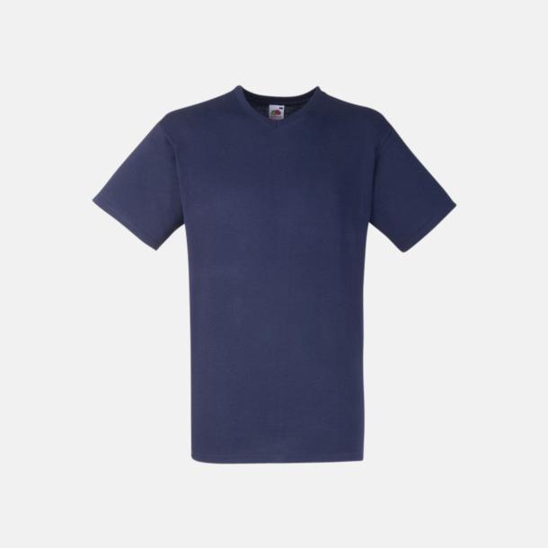 Deep Navy V-ringad t-shirt med reklamtryck