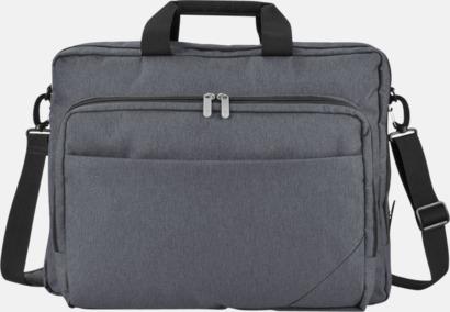"""Grå / Svart Väskor för 15,6""""-laptops - med reklamtryck"""