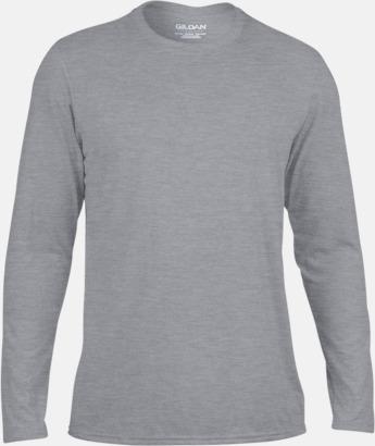 Sport Grey (herr) Långärmade funktionströjor för vuxna och barn med reklamtryck