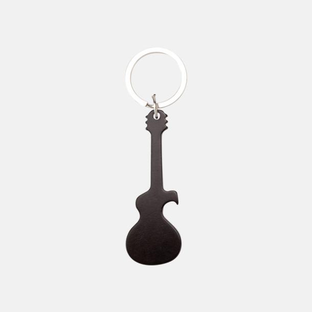 Svart (gitarr) Figurformade öppnare och nyckelringar med lasergravyr