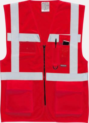 Röd Varselvästar med 2-färgade modeller - med reklamtryck