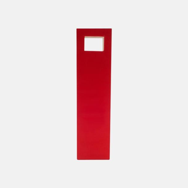 Röd Kassar av konstläder med reklamtryck