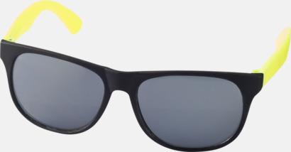 Neon Gul Klassiska solglasögon med bågar i kontrasterande färg - med tryck
