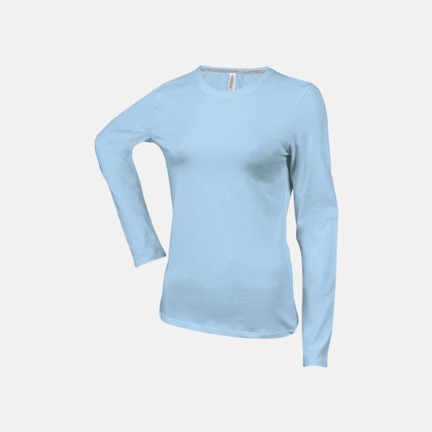 Sky Blue (crewneck, dam) Långärmad t-tröja med rundhals för herr och dam med reklamtryck