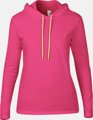Hot Pink (endast dam) Billiga herr- och damtröjor med reklamtryck