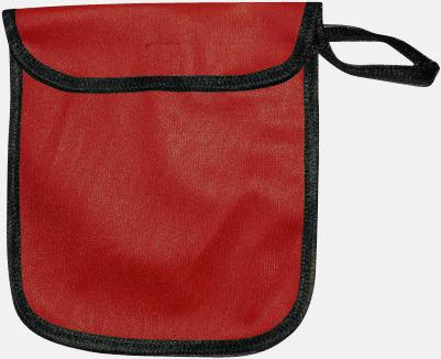 Röd Fodral för reflexvästar med reklamtryck