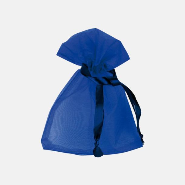 Blå (S) Färgglada presentpåsar i 4 storlekar med reklamtryck