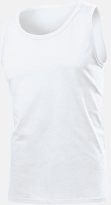 Vit (herrmodell) Billiga bomullslinnen i herr- och dammodell med reklamtryck