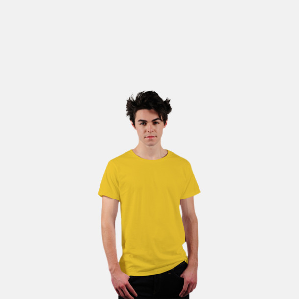 Gul Eko t-shirts i Fairtrade-bomull med reklamtryck