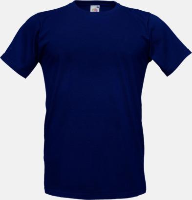 Deep Navy Tajtare reklamt-shirt med figurnära passform