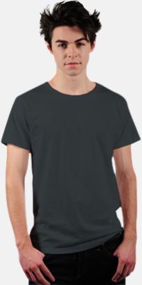 Charcoal Grey Eko t-shirts i Fairtrade-bomull med reklamtryck