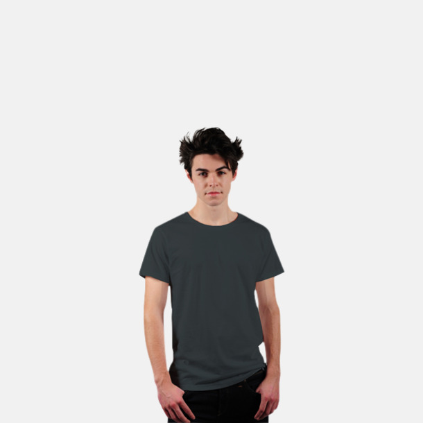 Charcoal Grey Eko t-shirts i Fairtrade-bomull med reklamtryck