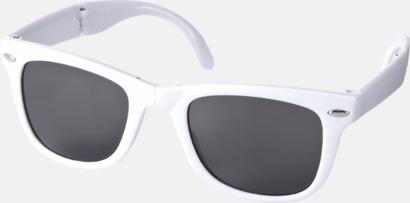 Vit Solglasögon med vikbar ram - med tryck