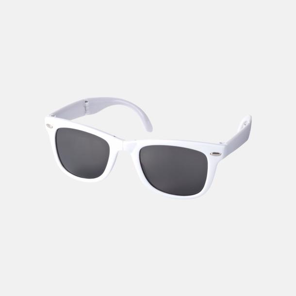 Vit Solglasögon med vikbar ram - med reklamtryck