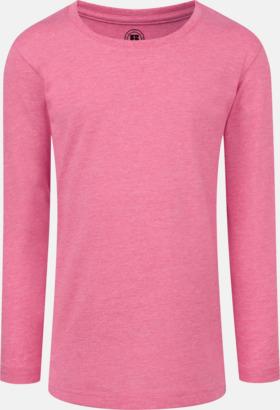 Pink Marl (flicka) Färgstarka långärms t-shirts i herr-, dam och barnmodell