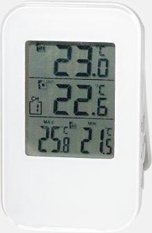 Vit Stilren termometer utan sladd - med reklamtryck