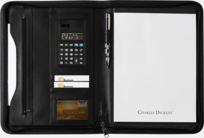 Med miniräknare Exklusiva konferensmappar från Charles Dickens - med reklamtryck