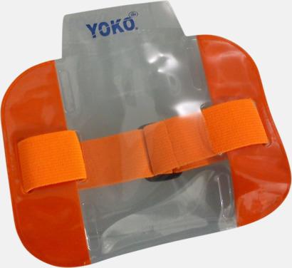 Floucerande orange Vattentäta ID-armband med reflex