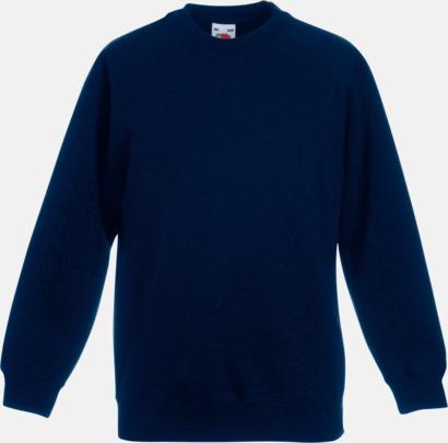 Deep Navy Tjocktröjor för barn med eget tryck