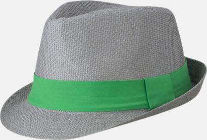 Grå/Grön Fina sommarhattar i många färger med reklambrodyr