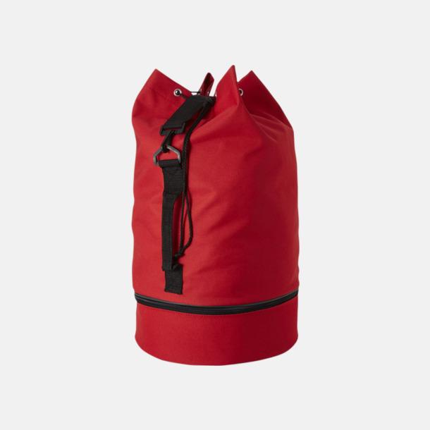 Röd Sjömansväskor i polyester med tryck